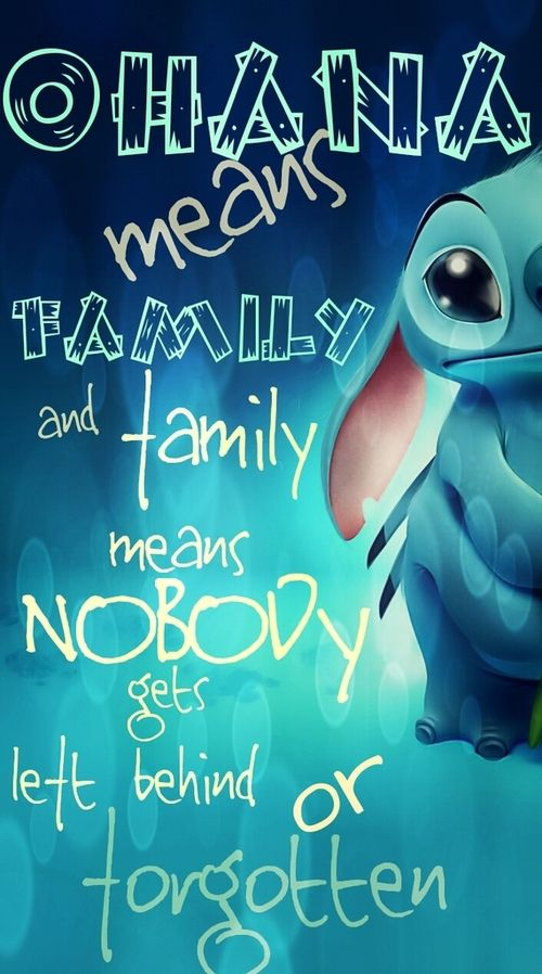 stitch ohana quote wallpaper - photo #9