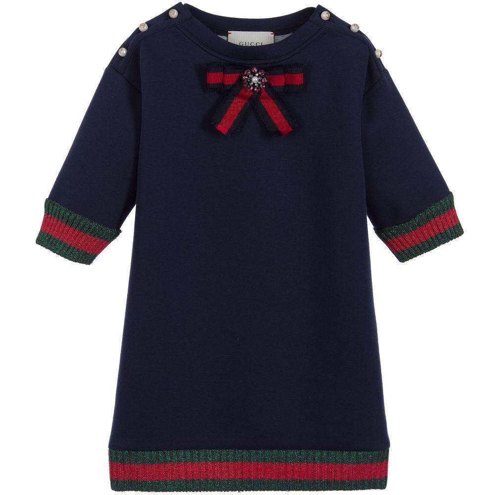 f00a216c222c Italian luxury brand Gucci have designed this striking, Mini-me sweater  dress so girls