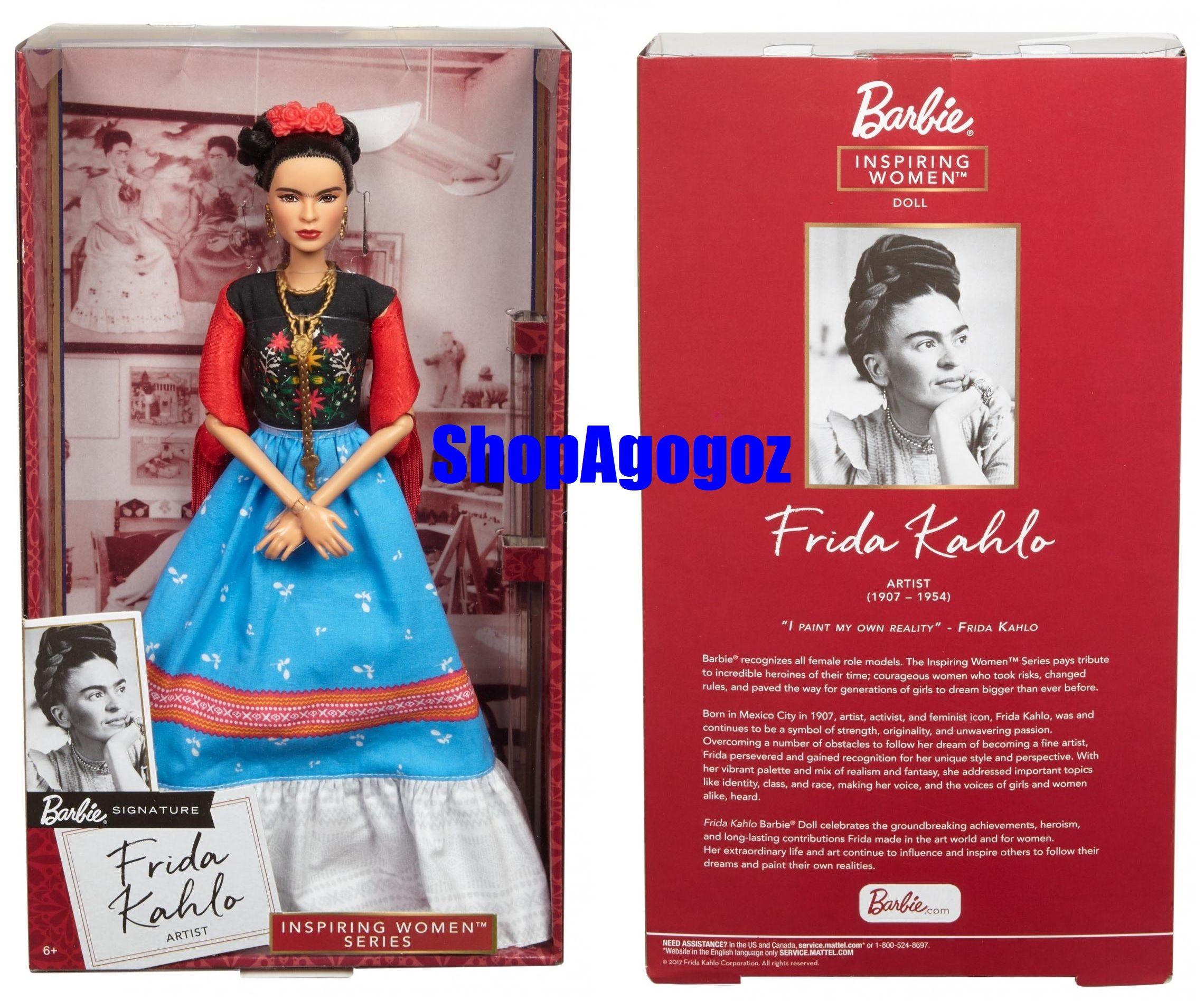 Collectible Frida Kahlo Mattel Barbie Doll Inspiring Women Series Mexican Artist