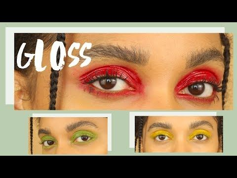 (1) GLOSS NOS OLHOS - COLORIDO (GLOSSY EYES) COMO FAZER - YouTube