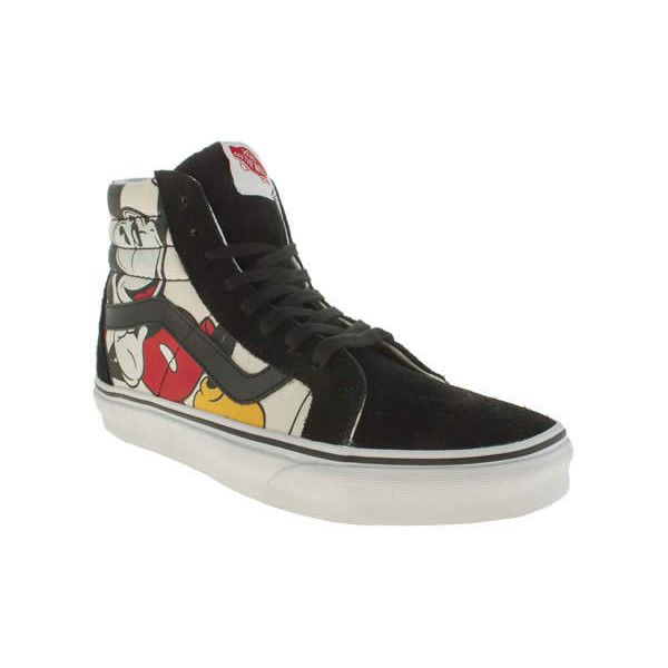 03d19705506 Vans Black   Red Disney Mickey Sk8-hi Trainers (€40) ❤ liked on ...