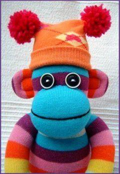 Sock Monkey Alien (48 pieces) | Sock Creatures | Sock toys