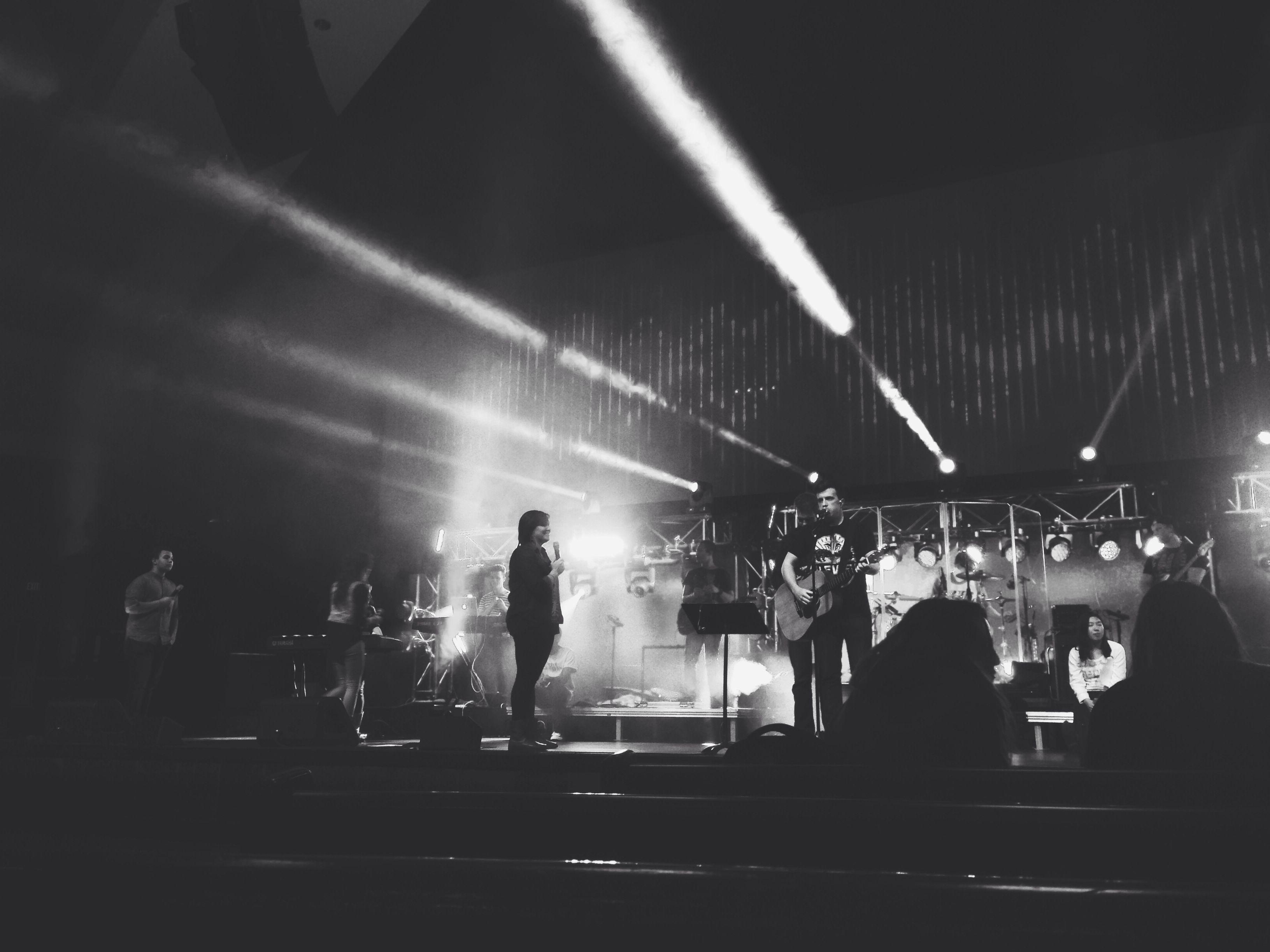 Stage. Lights.