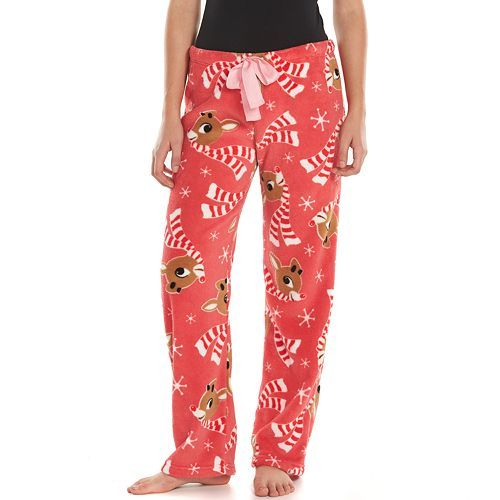 rudolph the red nosed reindeer plush pajama pants juniors rudolph the red red