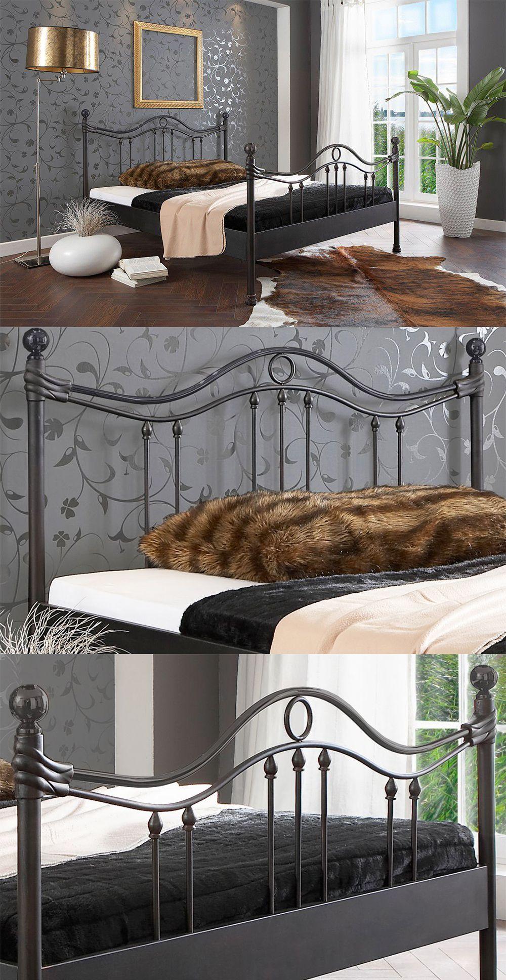 mattschwarzes Metallbett 204.00 Das stilvolle Bett aus