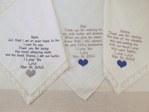 WEDDING GIFTS for Mom Dad and Mother in law set by #NapaEmbroidery ...