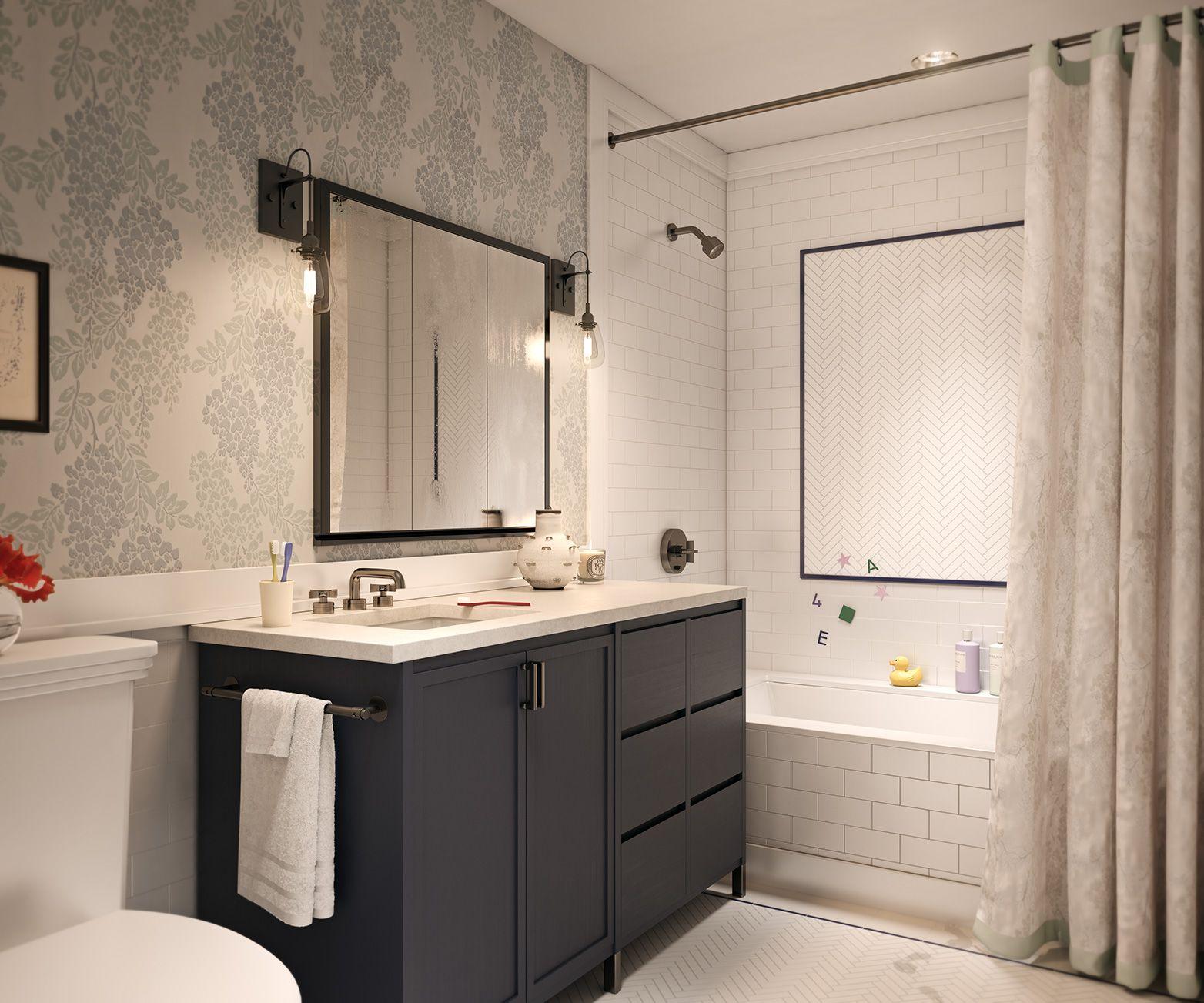 Navy And White Bathrooms Google Search Half Bathroom