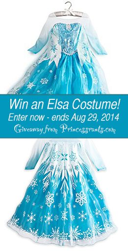 Win a free ELSA costume, purchased from the Disney store! Visit www.princessrants.com to enter! (Ends August 29th, 2014).