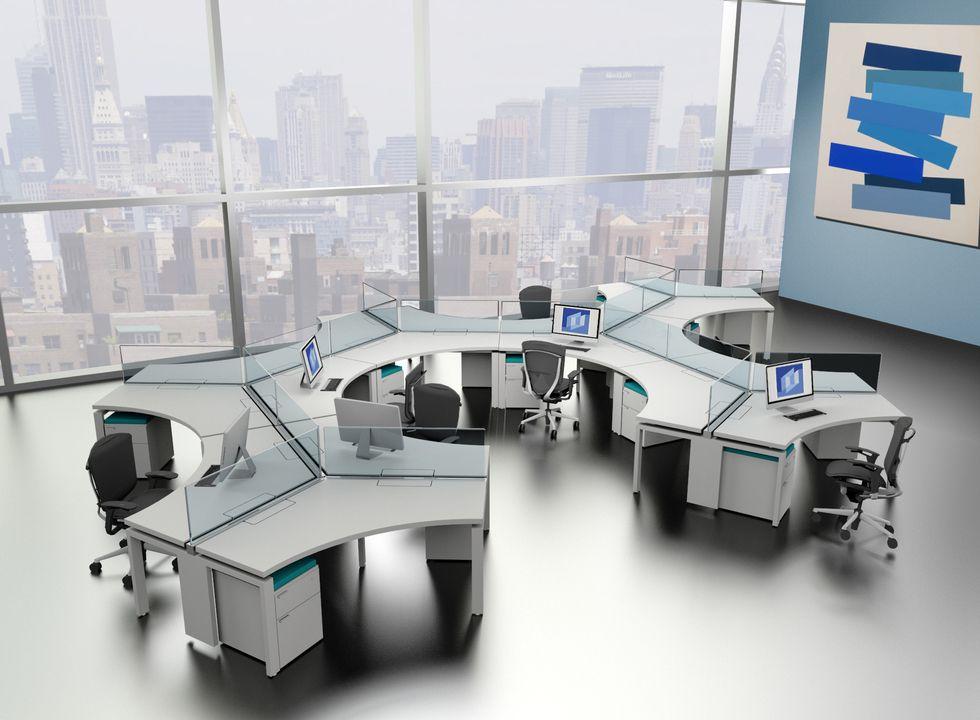 Colecci n de muebles que ayuda a optimizar la forma de trabajo en equipo o individual - La forma muebles ...