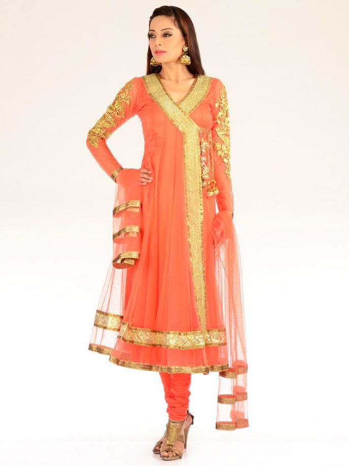 47eb20fe7 Latest Angrakha Style Dress Designs For Women 2017-2018
