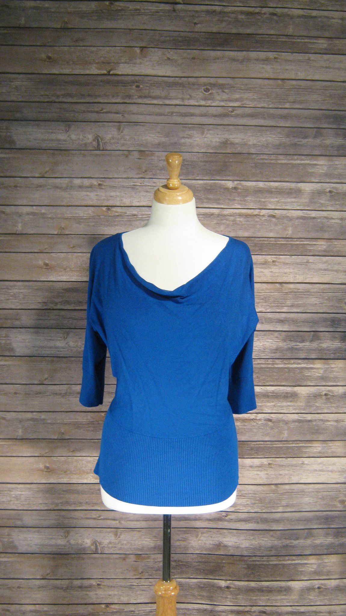 AB Studio Small royal blue cowl neck sweater | Products