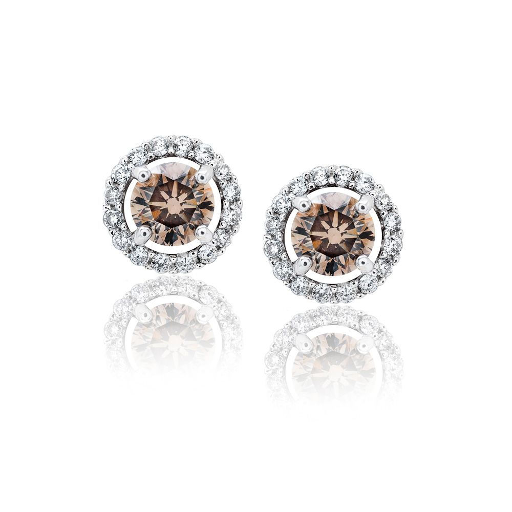 Chocolate Diamond Earrings Raleigh Stud Cary Diamonds