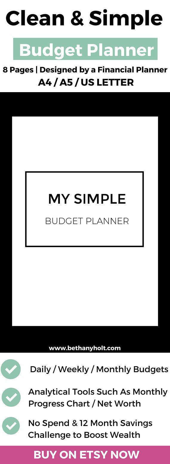 Budget Printable, Budget Template, Budget Planner, Monthly Budget, Weekly  Budget, A5 Budget Planner, Digital Download, Green Budget Tracker |  Printable