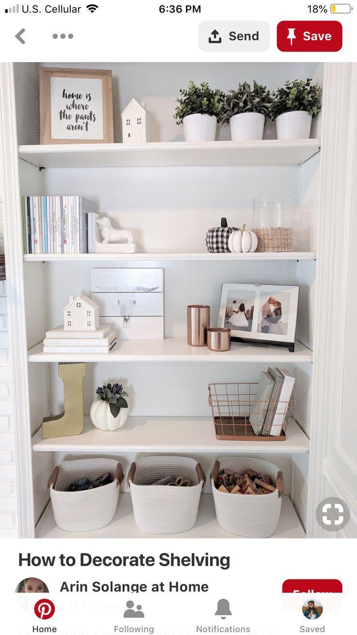 shelf love | Shelf decor living room, Bookcase decor ...