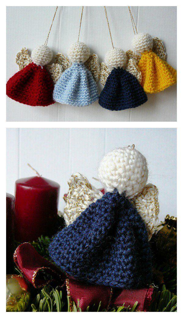 Christmas Angel Ornaments Free Crochet Pattern | Natal, Tejido y Navidad