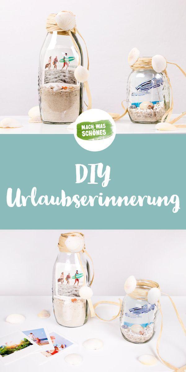 DIY: Flaschenpost full of holiday memories  - DIY Geschenke -