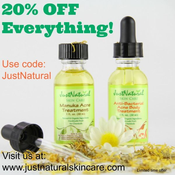 20% Off Coupon - Enter the code JustNatural at checkout. Save 20% off your entire purchase! Good for November only.
