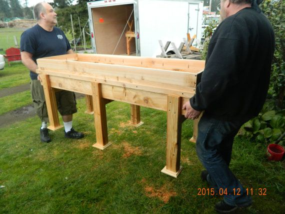 Charmant Large Wooden Stand Up Garden Bed By Angeloswoodworking On Etsy