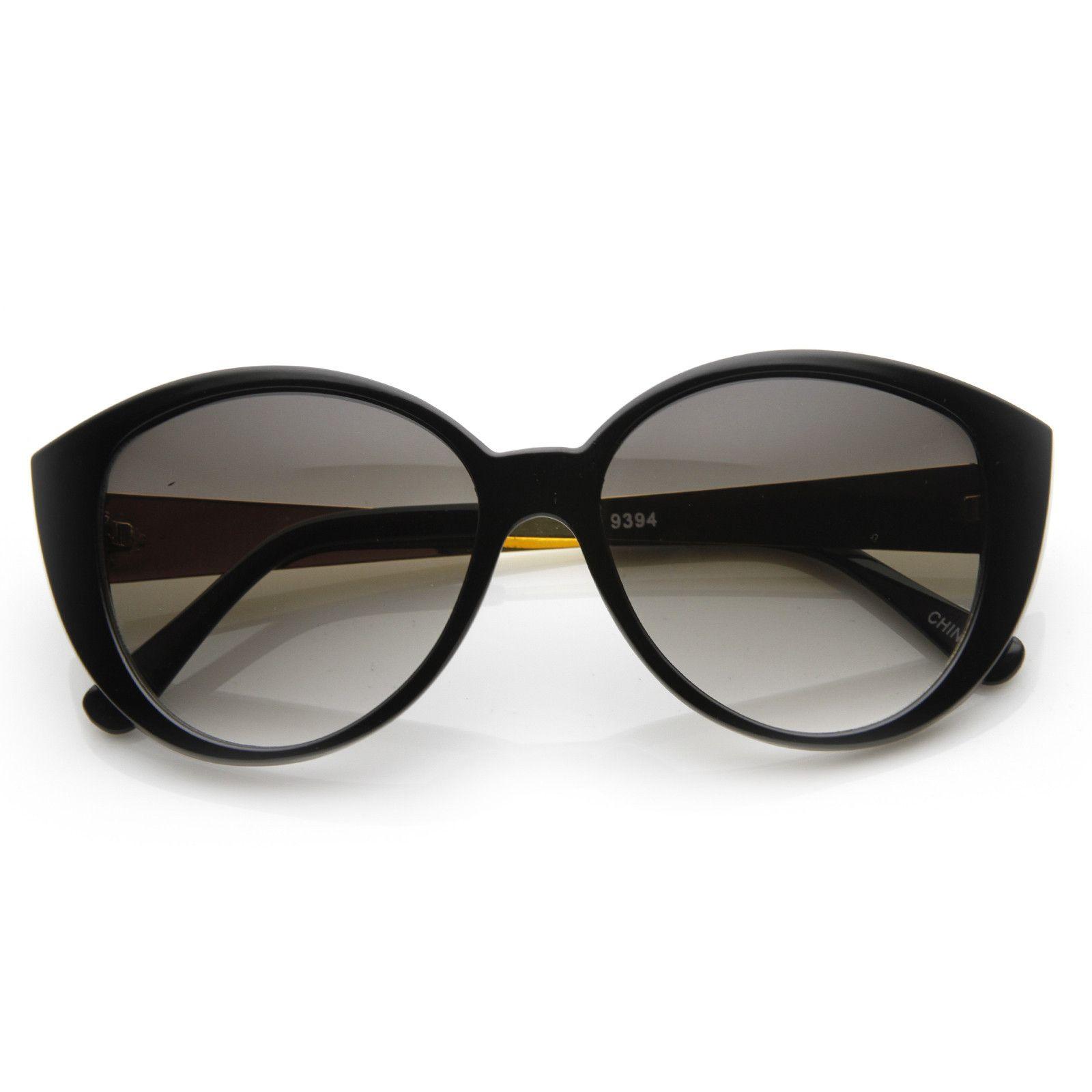 Large Women\'s Fashion Metal Arm Cat Eye Sunglasses 8689   Sunglasses ...