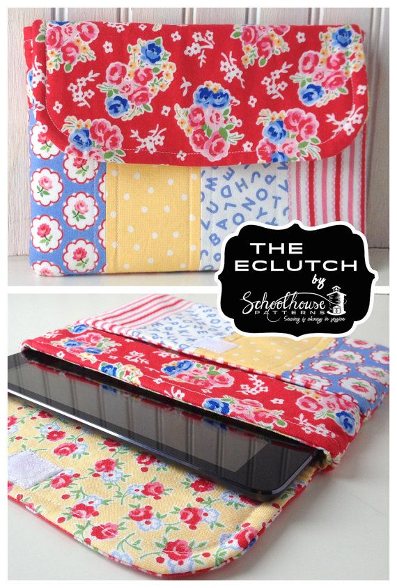 eclutch sewing pattern - sleeve case with pocket - Fits iPad, iPad ...