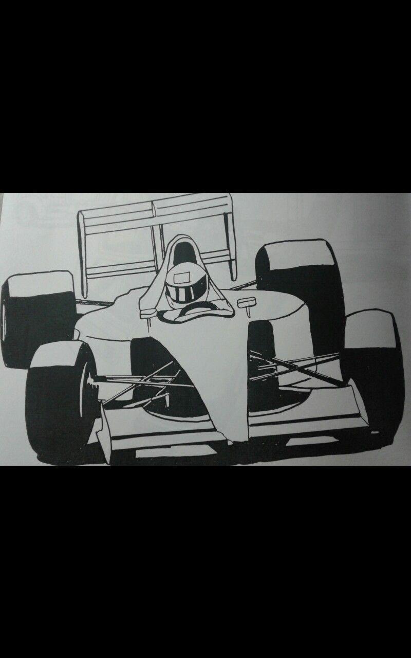 Formula One F1 coloring book art doodle motorsports