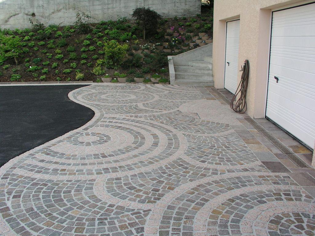 Comment Nettoyer La Terrasse En Pierre zoom : rosace en pavé | pavés exterieur, jardin minimaliste