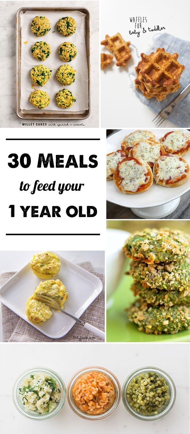 30 Meal Ideas for a 1yearold Baby food recipes, Baby