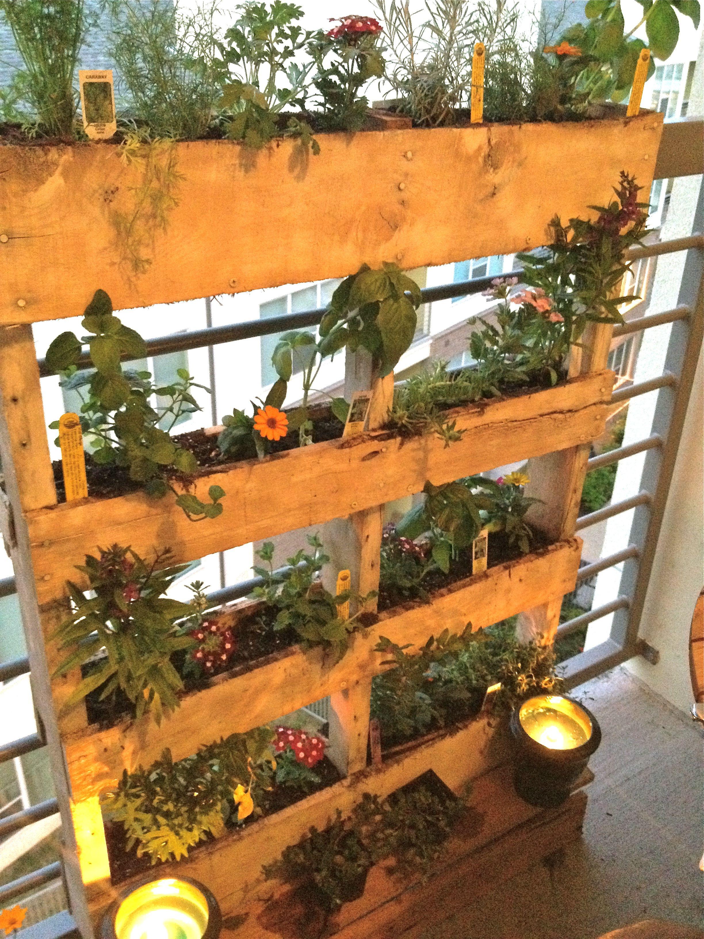 DIY pallet herb garden | pallets | Pinterest | Pallet herb gardens ...