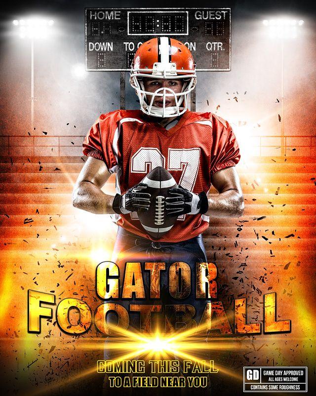 sports poster photo template impact football football photo