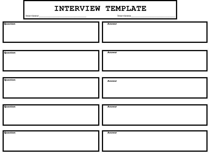 Image result for an interview template | Learning- Topic ...