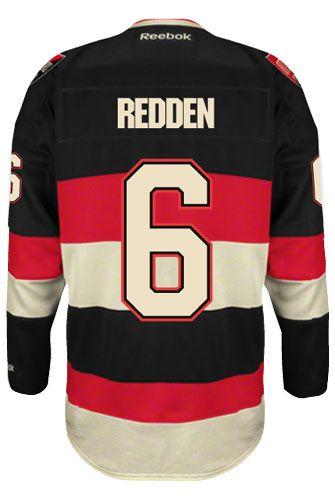 Ottawa Senators VINTAGE Wade REDDEN #6 *A* Official Third Reebok Premier Replica NHL Hockey Jersey (HAND SEWN CUSTOMIZATION)