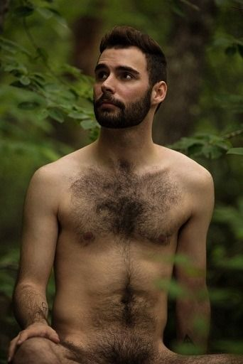 Slim hairy men