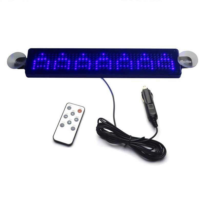 12 V Remote Led Programmable Sign Driving Lights Car Led Message Sign Scrolling For Cars Motorcycle Bicycle Vehicle Blue With Images Car Led Led Sign Board Led Signs