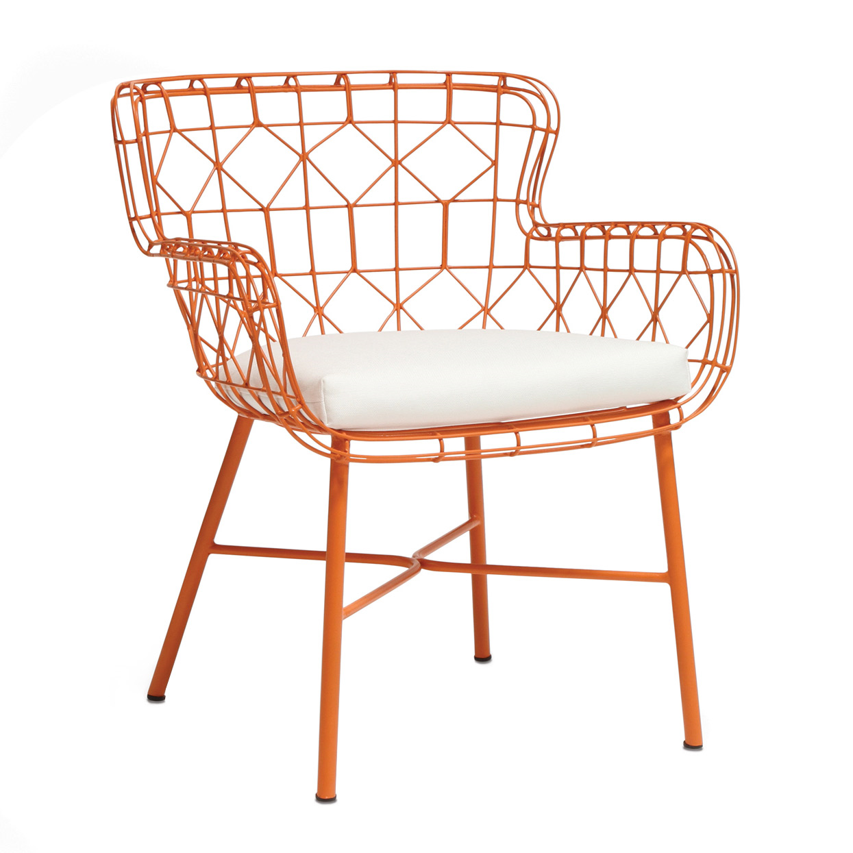 Superior Palecek Capri Orange Outdoor Arm Chair