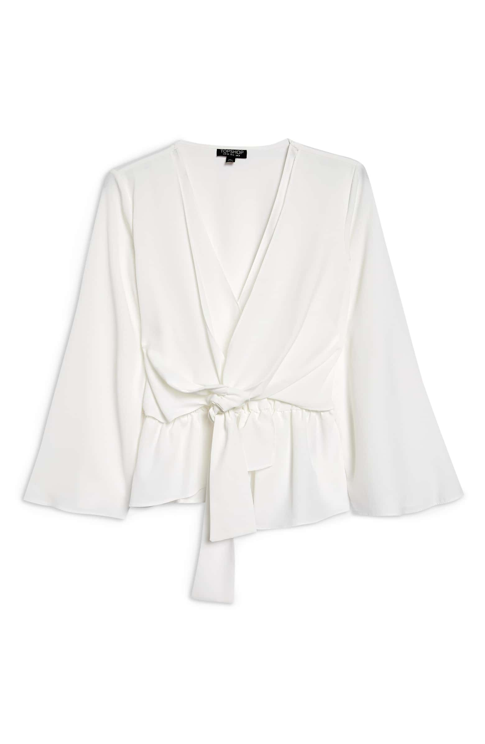 cb5a78f395df Topshop · Tiffany Asymmetrical Blouse, Alternate, color, IVORY Crepe Top ...