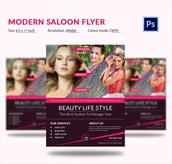 Download Modern Beauty Salon Flyer Template