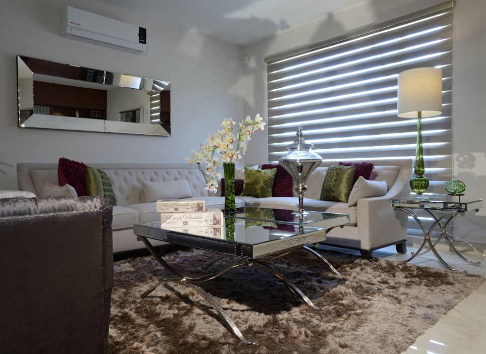 Sala de estudio casa gl: salas de estilo ecléctico por ...