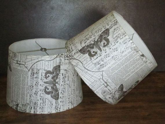 Pair of Collage Lamp Shades by Roycycled on Etsy, $50.00