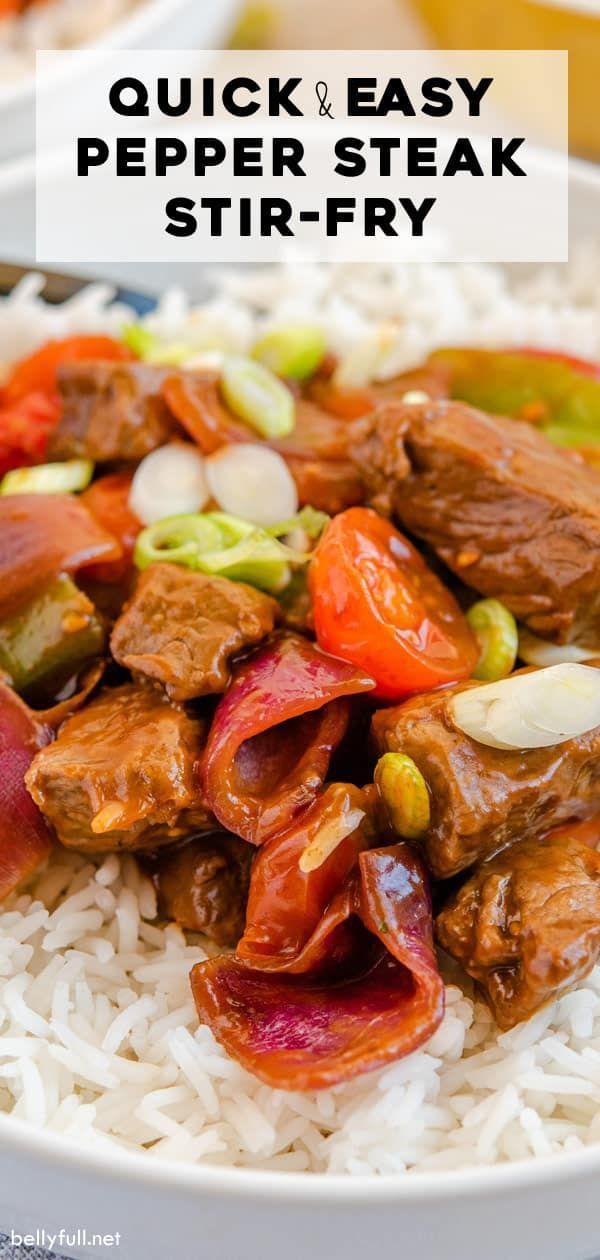 Pepper Steak Stir Fry | Recipe | Pepper steak, Stuffed ...
