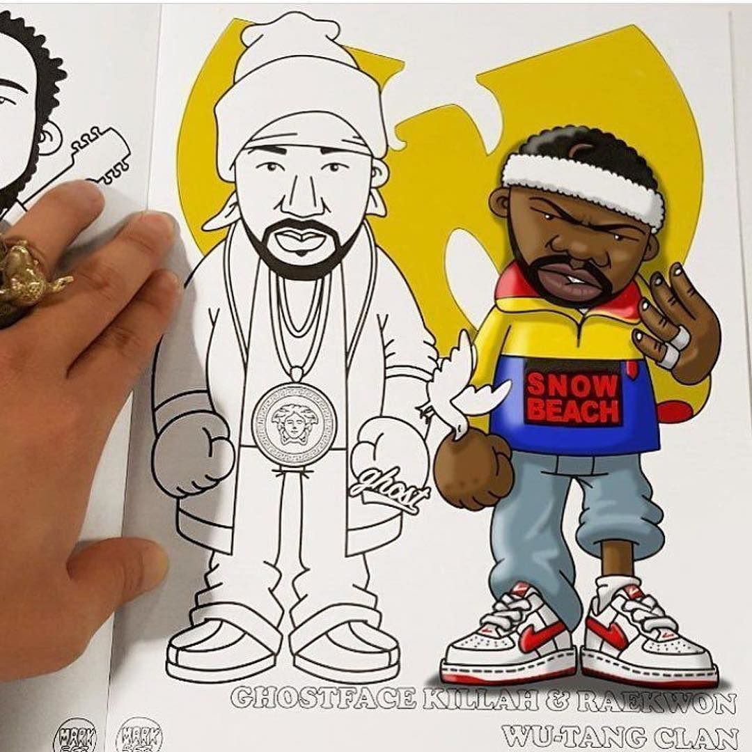repost mark563 wow lookrichasfuuu absolutely knocked the ghost rae page of my hip hop coloring book out of the park with his incredible colouring - Hip Hop Coloring Book