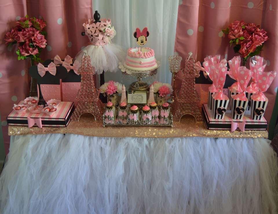 Tavolo Minnie ~ Minnie mouse in paris birthday party ideas paris birthday