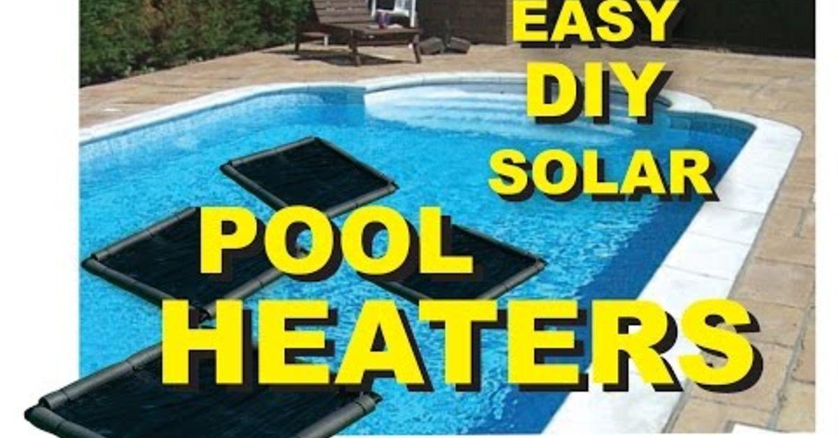 Easy DIY Solar Pool Heater Solar pool heater, Solar pool