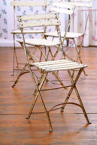 Set of vintage French café chairs | French Bistro Furniture... LOVE ...