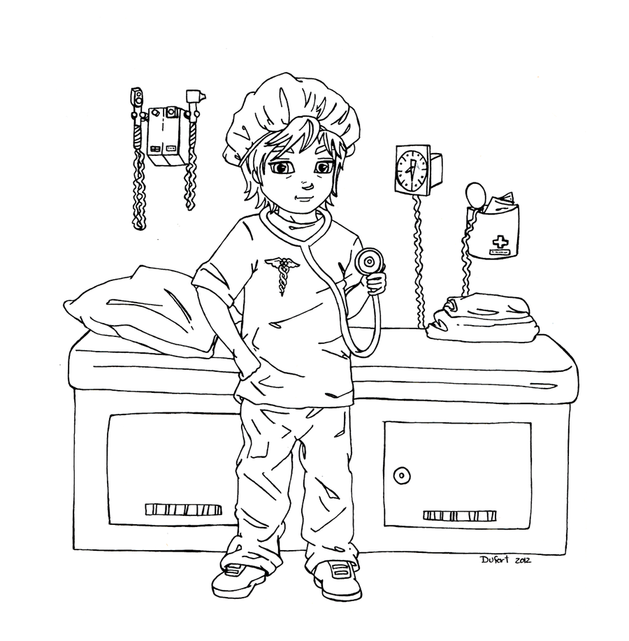 Doctor By Jadedragonne On Deviantart Coloring Pages Coloring Books Outline Drawings [ 917 x 900 Pixel ]