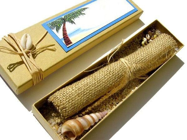 Diy Handmade Beach Wedding Invitations Convite De Casamento