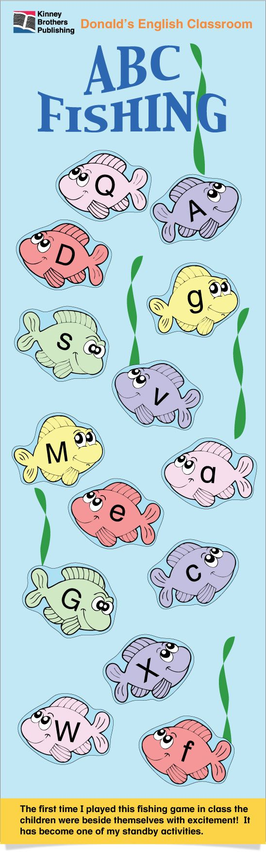 ESL Games-ABC Fishing | Academics | Pinterest | Activities, Fish and ...
