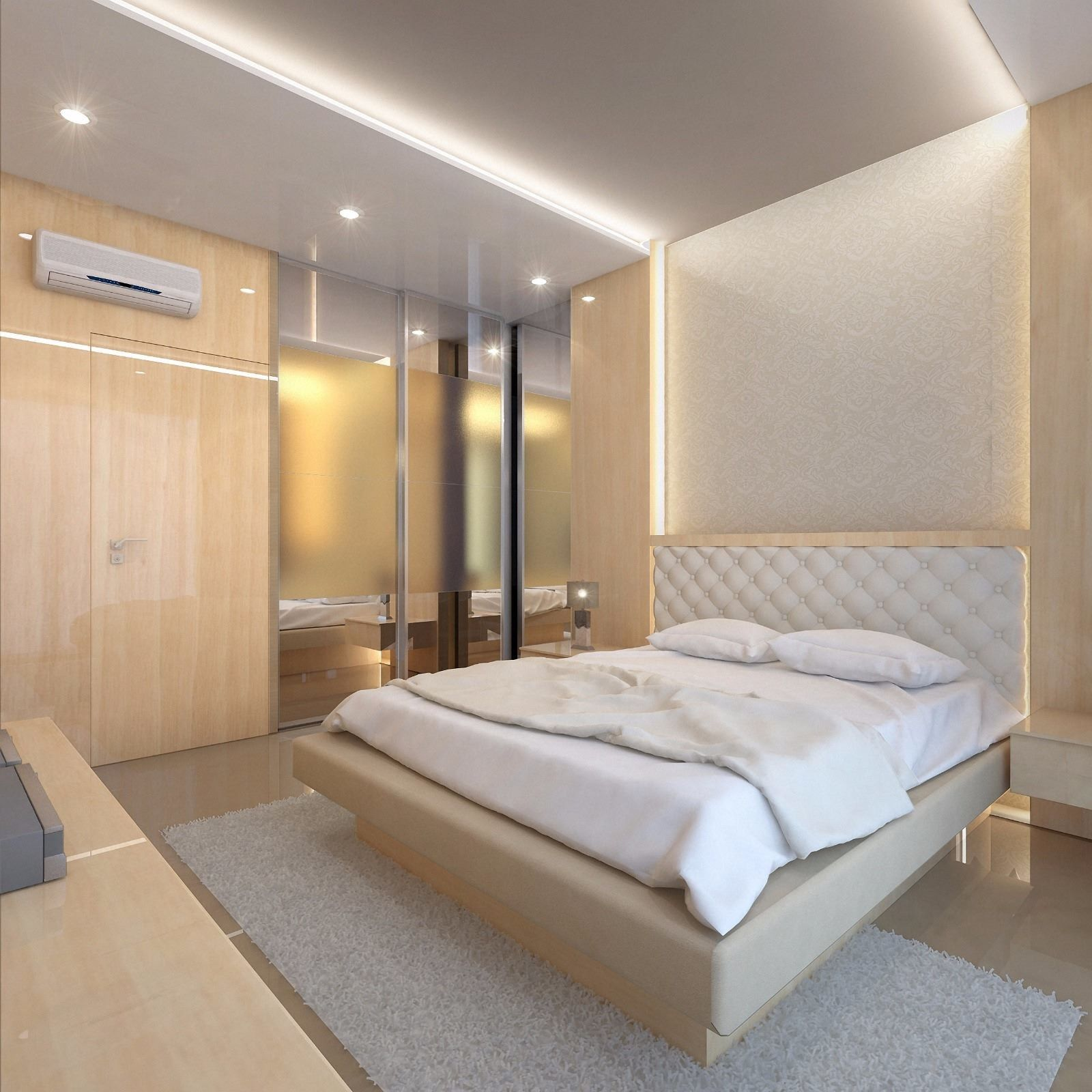 Best The Bright Bed Room With Creme Color Appearance Light 400 x 300
