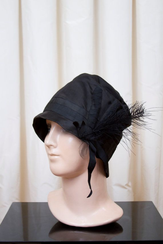 Flapper Hat 20s Party 1920s Black Hat High Fashion 20s Hat Gatsby Party Black Skull Cap Womens 1920s Hat 20s Hair Style