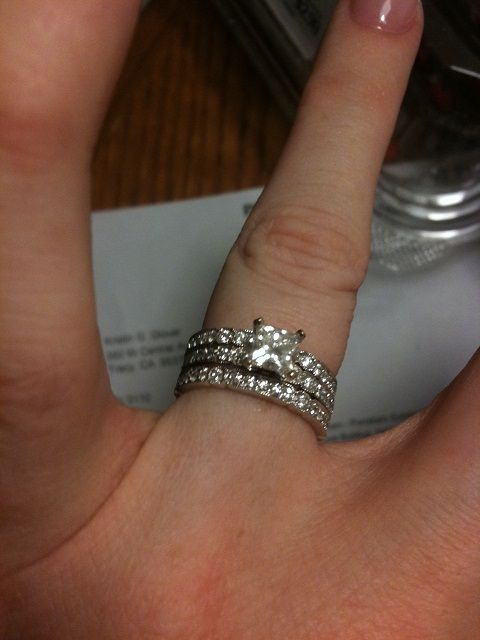 double wedding band on either side Rings Pinterest Double