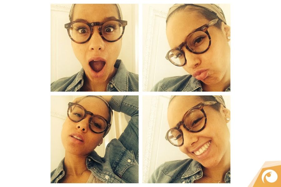 Stars wearing Glasses | Alicia Keys mag auffällige, großen Kunststoffbrillen | Quelle: instagram.com/aliciakeys @IhrAugenoptiker